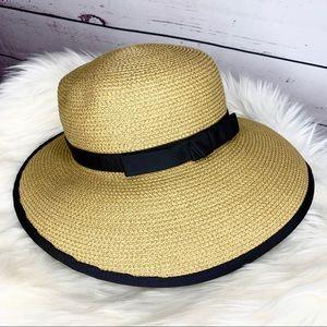Eric Javits Raffia Squishee Ribbon Bow Sun Hat